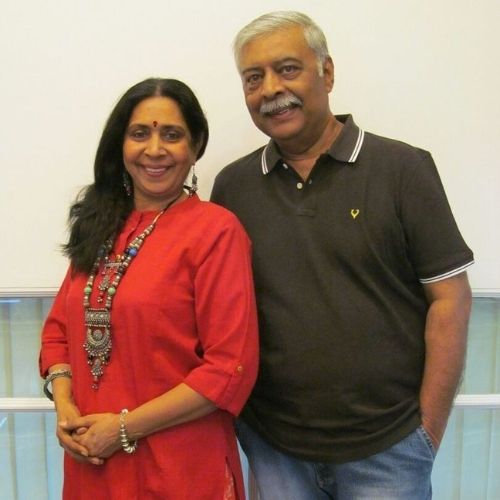 Abhay Bhargava with Wife