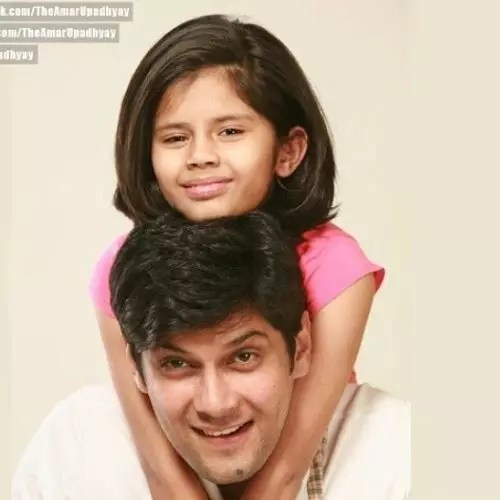 Amar Upadhyay with Daughter