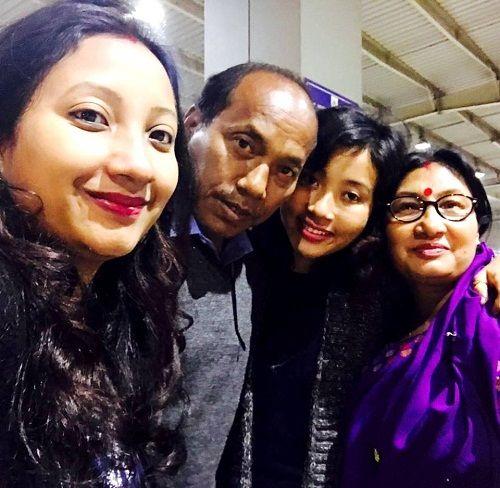 Ankita Konwar with Family