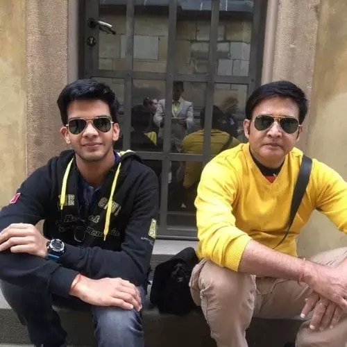 Hemant Choudhary with son