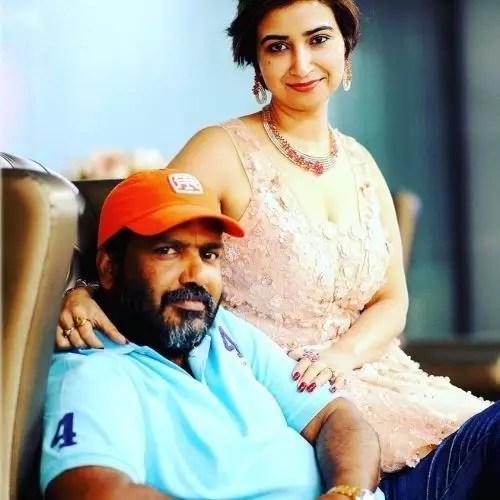 Rashmi Sharma with Husband