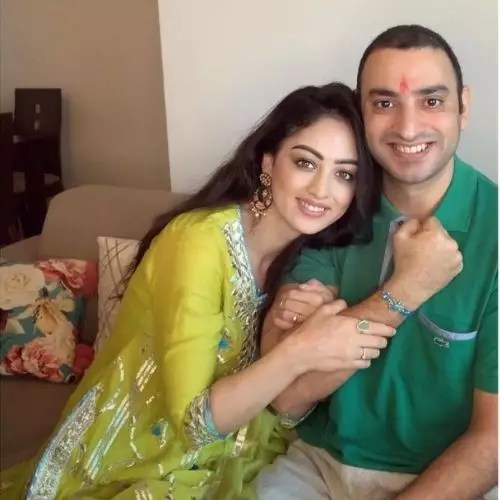 Sandeepa Dhar with brother