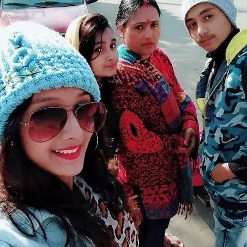Kajal Chauhan with Family