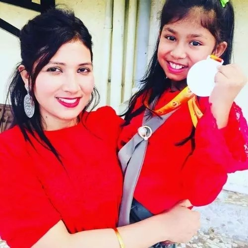 Laisel Rai with Mother