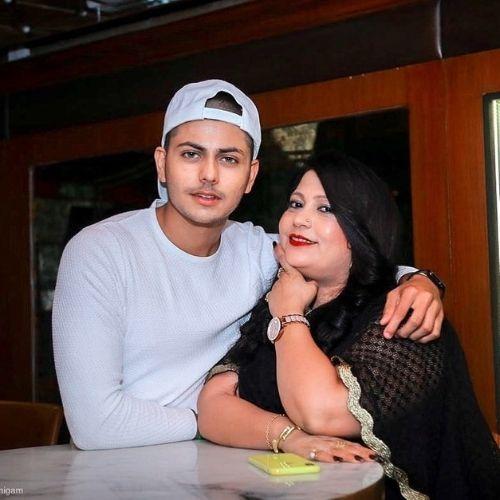 Abhishek Nigam with Mother