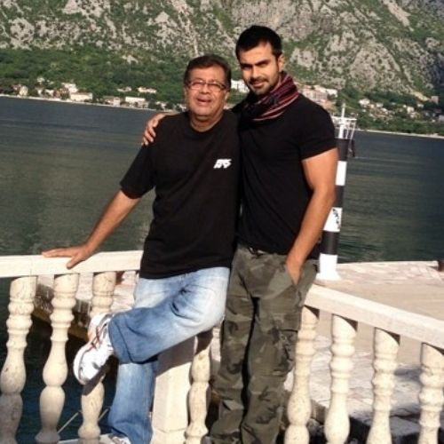 Ashmit Patel with Father