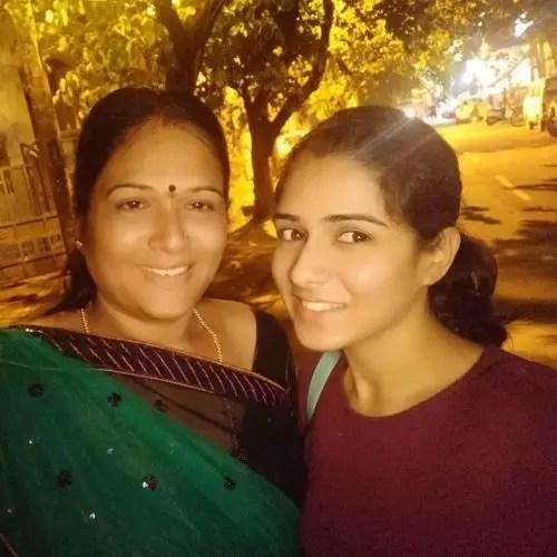 Supritha Sathyanarayan with Mother
