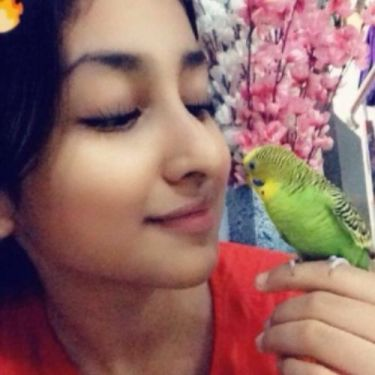 Anchal Sahu with her bird