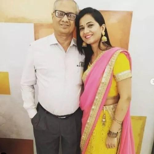 Radha Sagar with Father