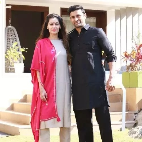 Sangram Singh with Payal Rohatgi (Wife)