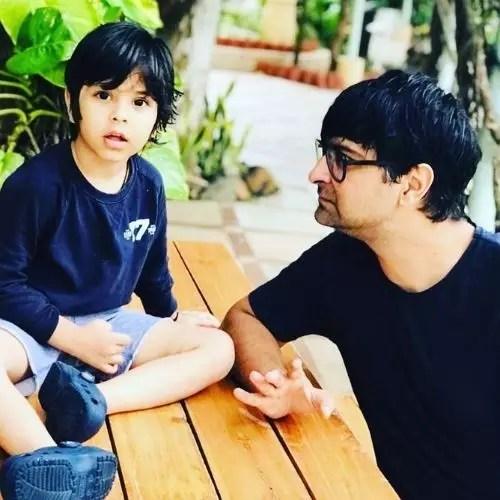 Ashu Sharma with His Son