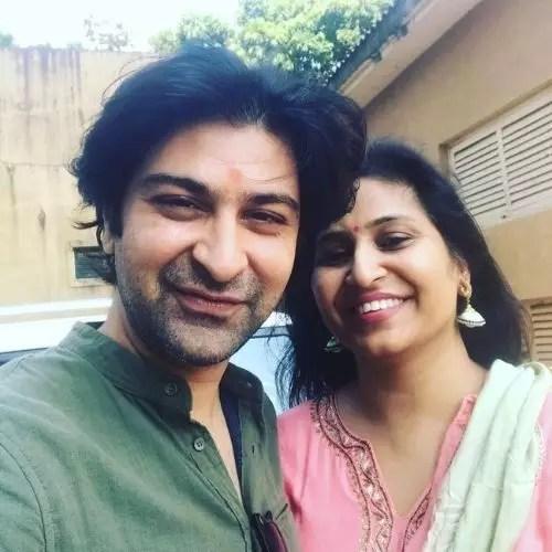 Ashu Sharma with Megha Sharma (Wife)