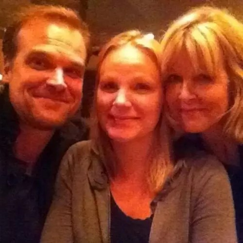 David Harbour with Sister and Mother