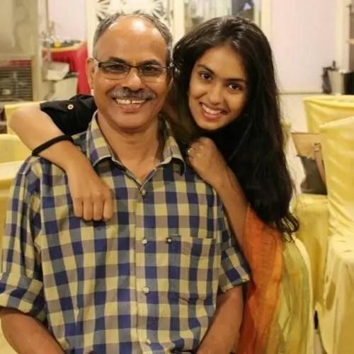 Gauri Deshpande with Father