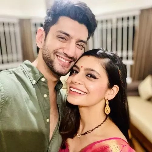 Kunal Jaisingh with Bharati Kumar (Wife)