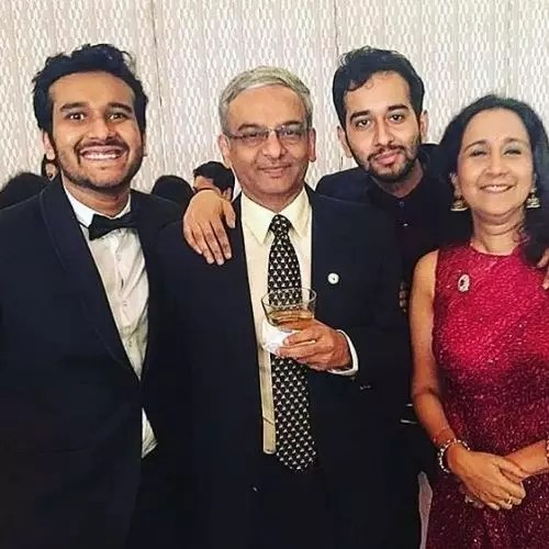 Sahil Shah with His Father, Mother and Brother