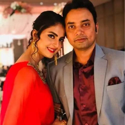 Sairity Banerjee with Rohit Jha (Husband)