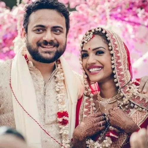 Shruthy Menon with Shahil Timpadia (Husband)