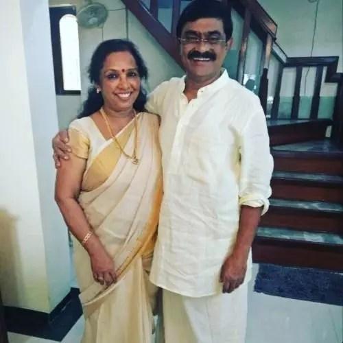 Shruthy Menon's Parents