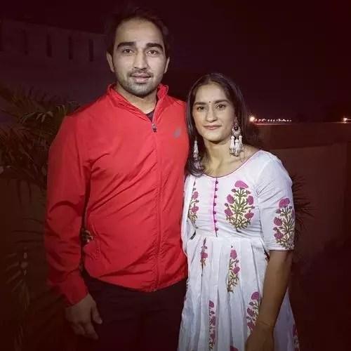 Vinesh Phogat and Somvir Rathee