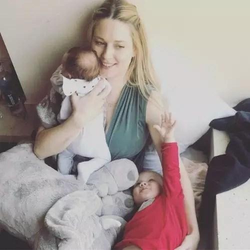 Alexandra Breckenridge with children
