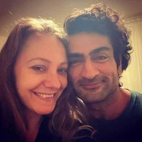 Kumail Nanjiani with wife