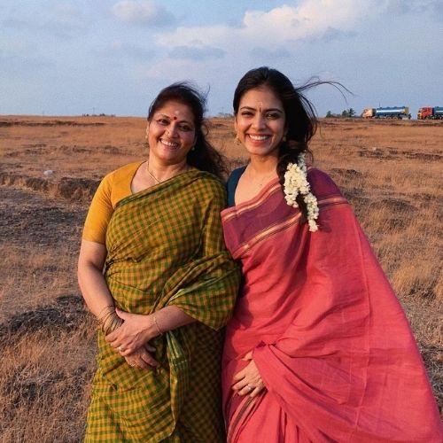 Malavika Mohanan with Mother