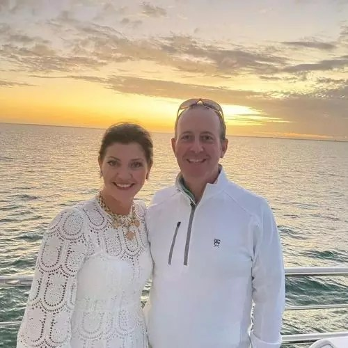Norah O'Donnell and Geoff Tracy