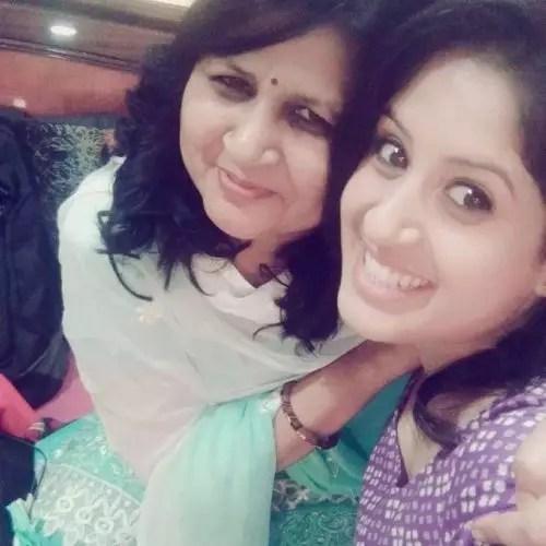Ruchi Tripathi with Mother