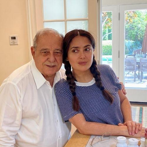 Salma Hayek with Father