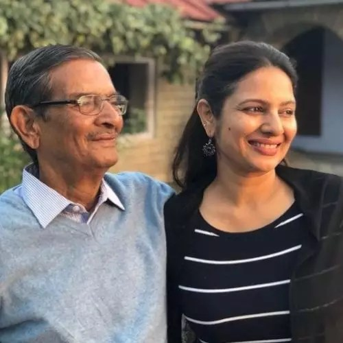 Sonal Jha with Father