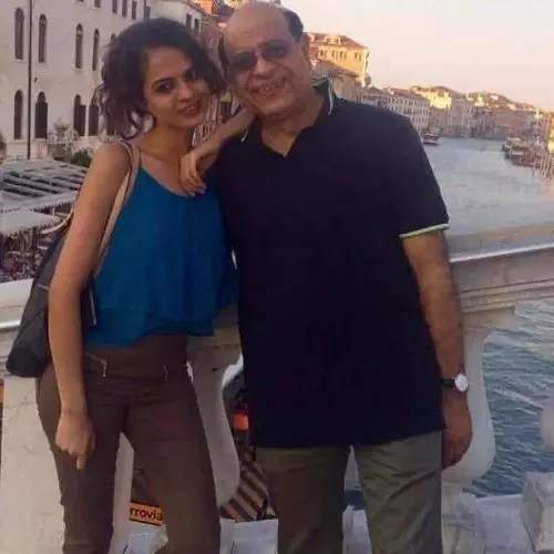 Tania Sachdev with Father