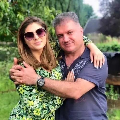 Elnaaz Norouzi with Father