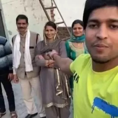 Joginder Yadav with Family