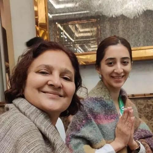 Kritika Avasthi with Mother
