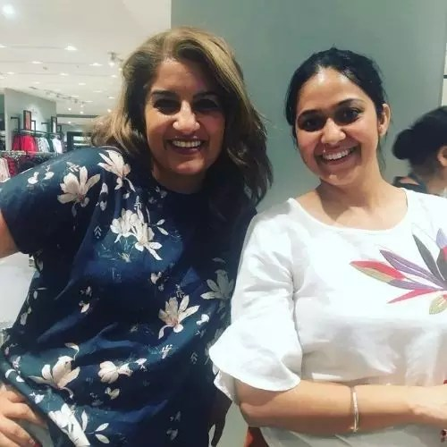 Navjyot Randhawa with Sister