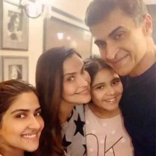 Pranutan Bahl with Family