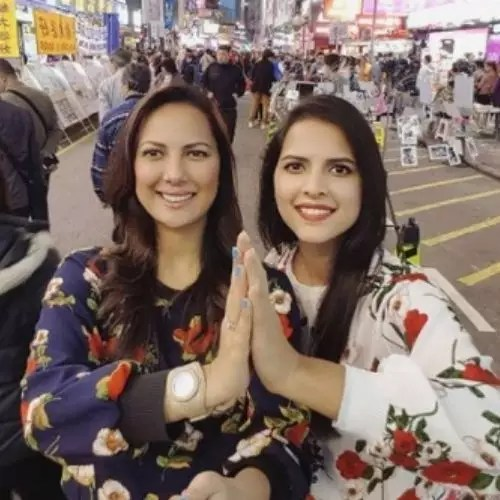 Rochelle Rao with Sister
