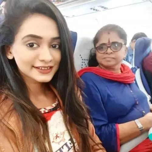 Chandana Segu with Mother