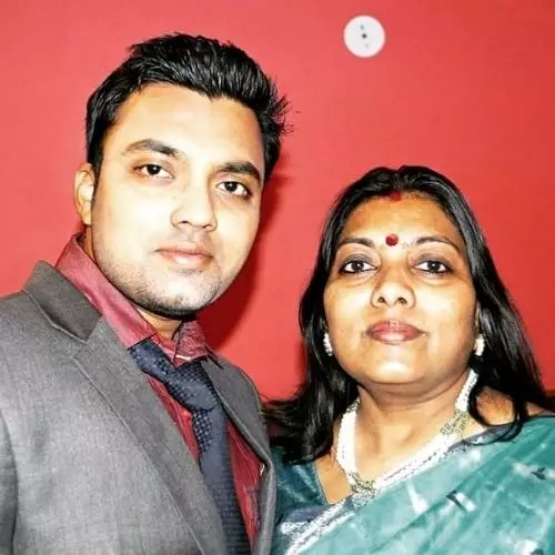Jay Sharan with Mother