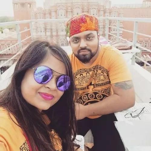 Jay Sharan with Wife