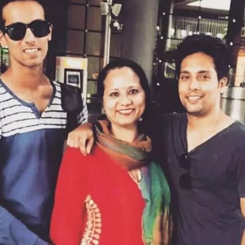 Manraj Singh Sharma with Mother and Brother