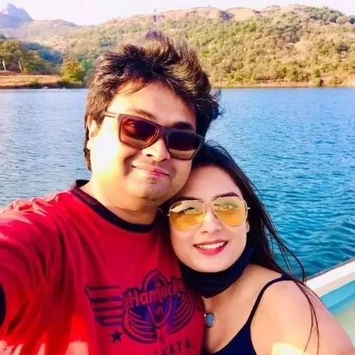 Priyanka Nayan with Husband