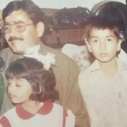 पिता और बहन के साथ शहाब अली