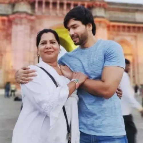 Shahab Ali with Mother