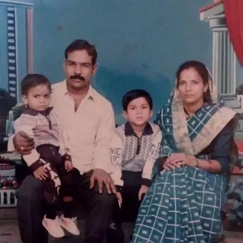 Vishal Nikam with His Family