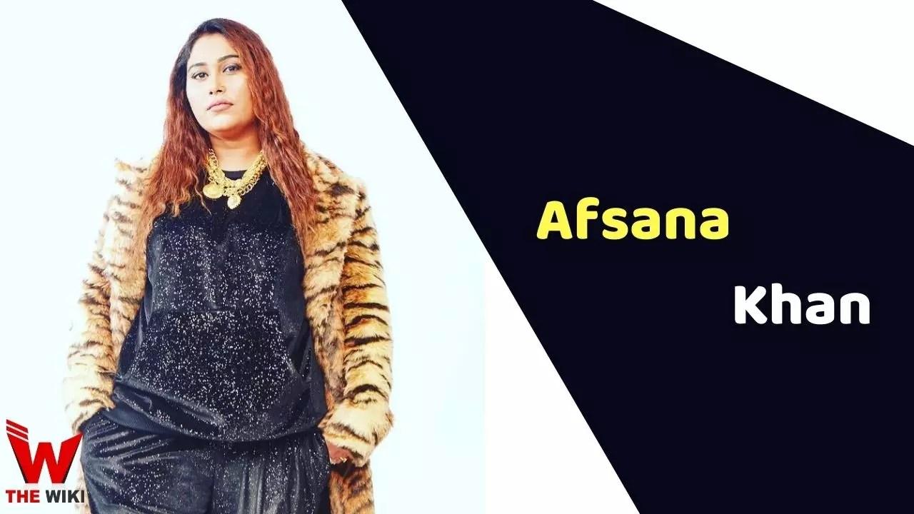 Afsana Khan (Singer)