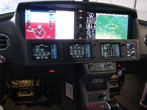 2017 Cirrus Vision SF50 Perspective Touch by Garmin flight deck, photo credit wikiWings