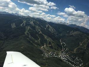 Mountain Flying above Beaver Creek Colorado Ski Resort