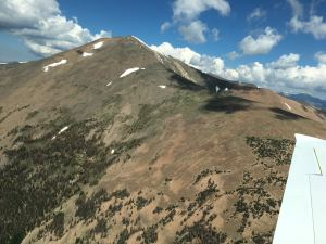 Colorado Rocky Mountains, blue sky and scatter clouds, photo wikiWings
